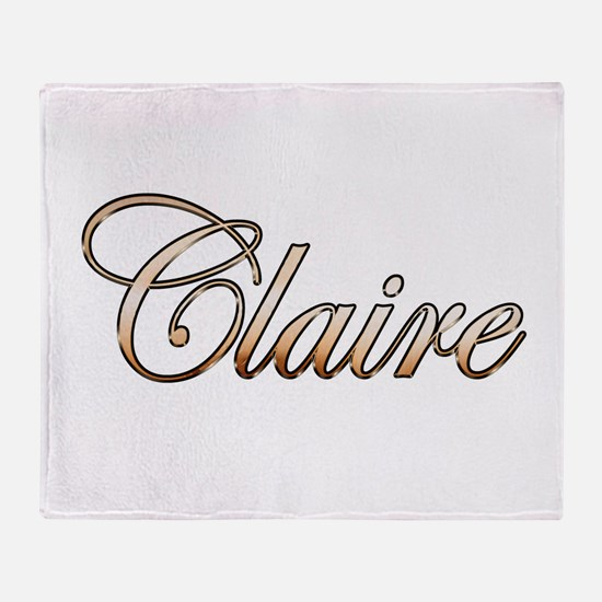 Gold Claire Throw Blanket