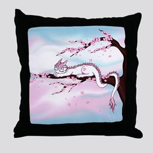 Sakura Dragon Throw Pillow