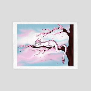 Sakura Dragon 5'x7'Area Rug