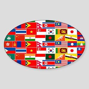 Asian Flags Sticker