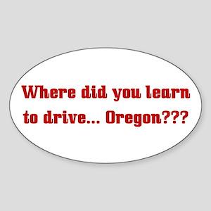 Drive Oregon Oval Sticker