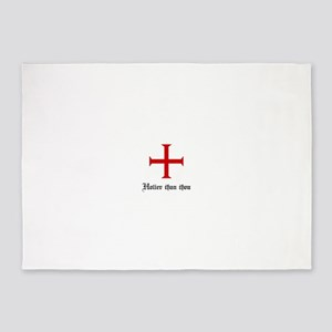 Holier Than Thou | Templar Cross 5'x7'Area Rug