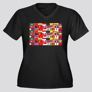 Asian Flags Plus Size T-Shirt
