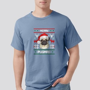 Pug Merry Woofmas Christmas T-Shirt Gift T-Shirt