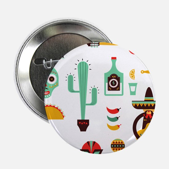"Unique Mexican 2.25"" Button"