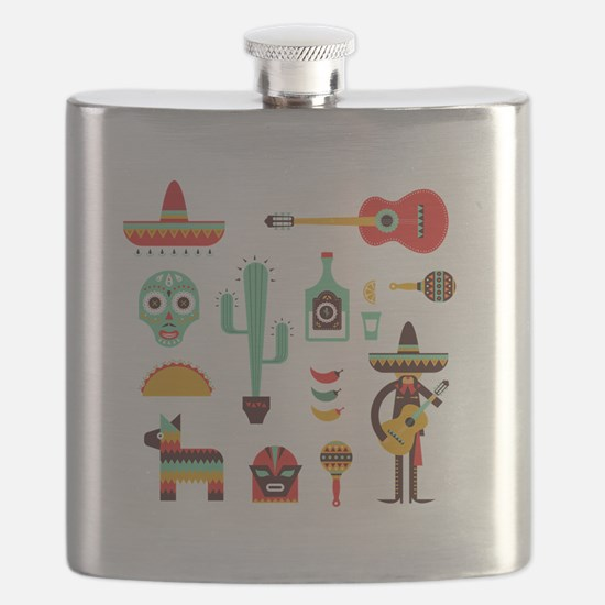 Cute Cinco de mayo Flask