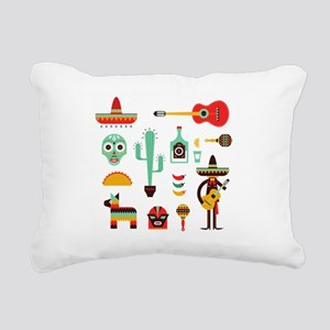 mexican Rectangular Canvas Pillow