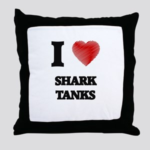 I love Shark Tanks Throw Pillow