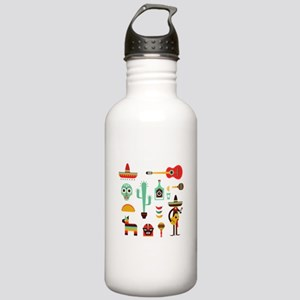 mexican Stainless Water Bottle 1.0L