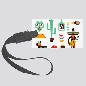 mexican Large Luggage Tag