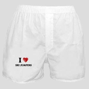 I love Ski Jumpers Boxer Shorts