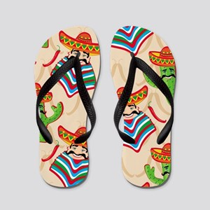 mexican cactus Flip Flops