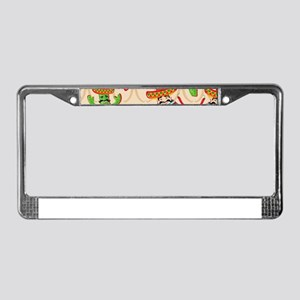 mexican cactus License Plate Frame