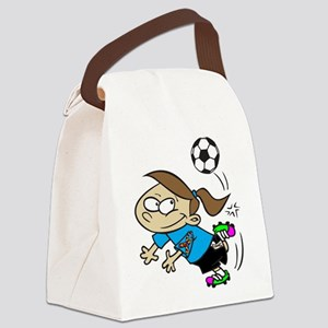 SOCCER GIRL AUTISM RIBBON Canvas Lunch Bag
