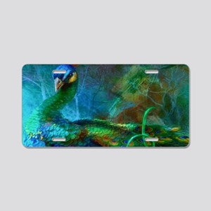 Lotus Peacocks Aluminum License Plate