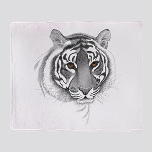 The Eyes of the Tiger Throw Blanket