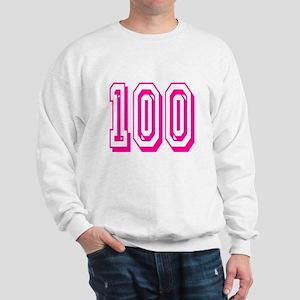 100 Pink Birthday Sweatshirt