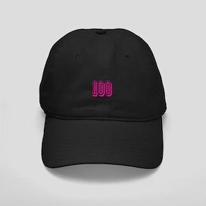 100 Pink Birthday Black Cap