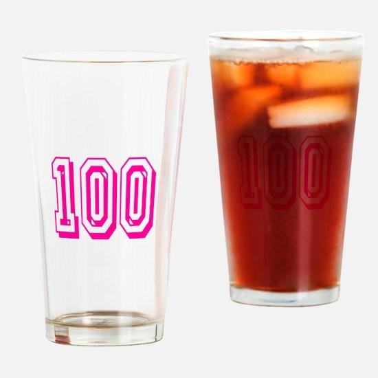 100 Pink Birthday Drinking Glass