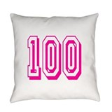 100 years old Burlap Pillows