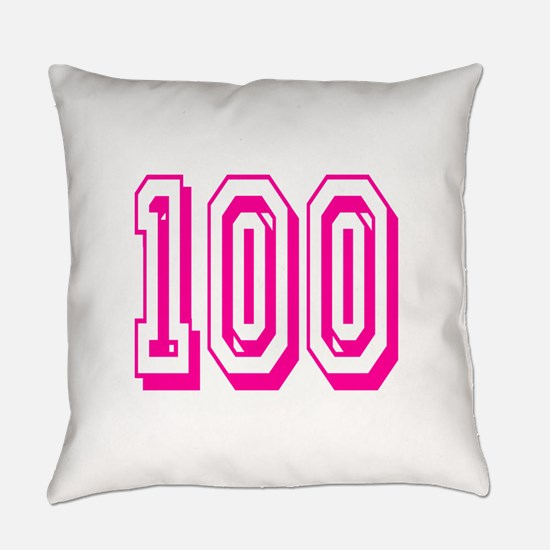 100 Pink Birthday Everyday Pillow