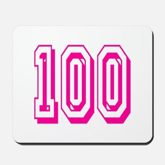 100 Pink Birthday Mousepad