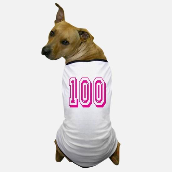 100 Pink Birthday Dog T-Shirt