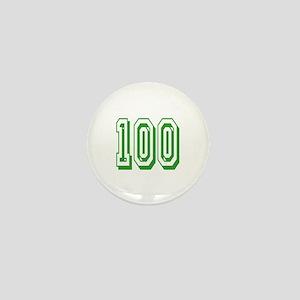 100 Green Birthday Mini Button
