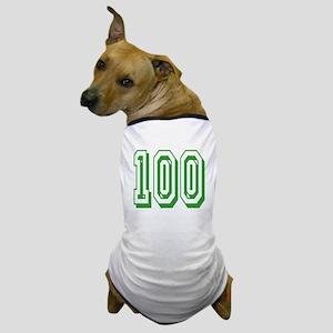 100 Green Birthday Dog T-Shirt