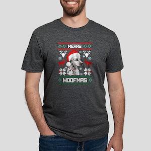 Dalmatian Dog Merry Woofmas Christmas T-Sh T-Shirt