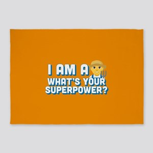 Emoji Superpower Farmer 5'x7'Area Rug
