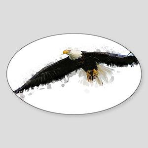 Watercolor Soaring Eagle Sticker