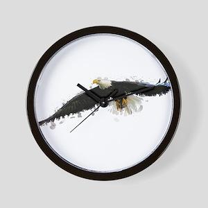 Watercolor Soaring Eagle Wall Clock
