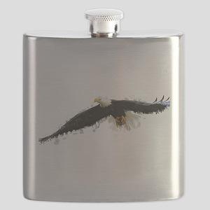 Watercolor Soaring Eagle Flask