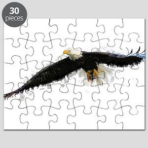 Watercolor Soaring Eagle Puzzle