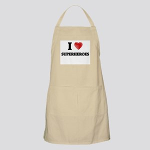 I love Superheroes Apron