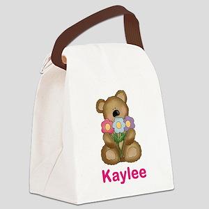 Kaylee's Bouquet Bear Canvas Lunch Bag