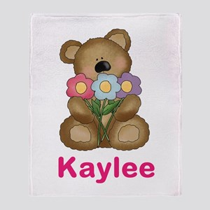 Kaylee's Bouquet Bear Throw Blanket