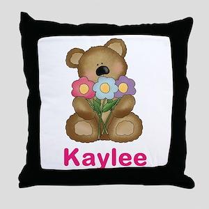 Kaylee's Bouquet Bear Throw Pillow