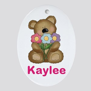 Kaylee's Bouquet Bear Oval Ornament