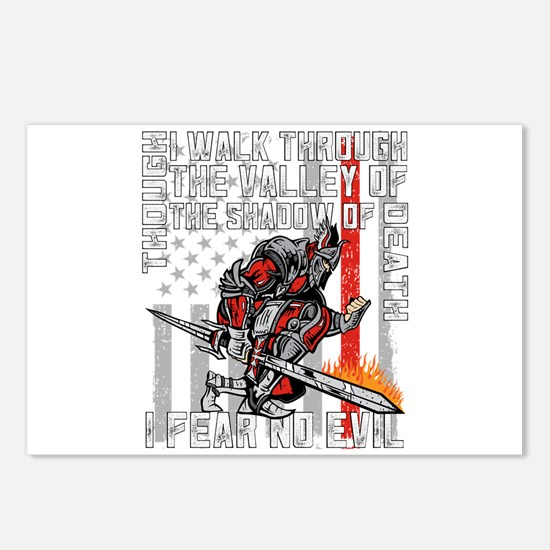 I Fear No Evil Firefighte Postcards (Package of 8)