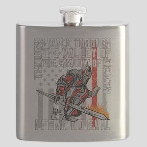I Fear No Evil Firefighter Crusader Flask