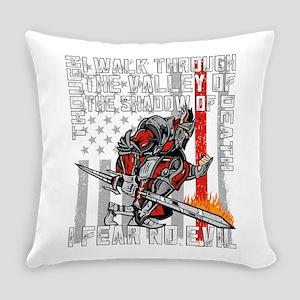 I Fear No Evil Firefighter Crusade Everyday Pillow