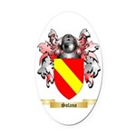 Solano Oval Car Magnet