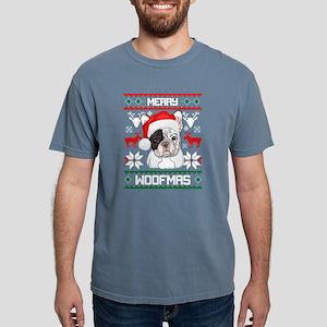 French Bulldog Merry Woofmas Christmas Gif T-Shirt