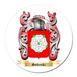 Sobieski Round Car Magnet