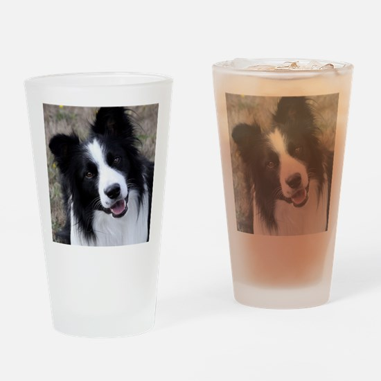 Cute Border Drinking Glass