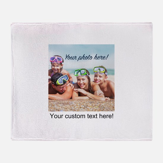 Custom Photo And Text Throw Blanket