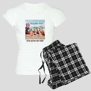 Custom Photo And Text Pajamas