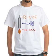 Rocket Science And Rocket Equation White T-Shirt